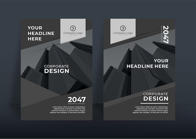 Corporate omslagontwerp of folder sjabloon achtergrond voor zakelijk ontwerp. moderne bedrijfsprofielsjabloon in a4-formaat