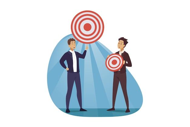 Corporate planning illustratie