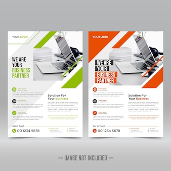 Corporate poster, flyer ontwerpsjabloon