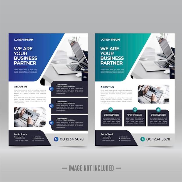 Corporate poster flyer ontwerpsjabloon