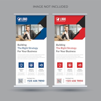 Corporate roll-up banner sjabloon