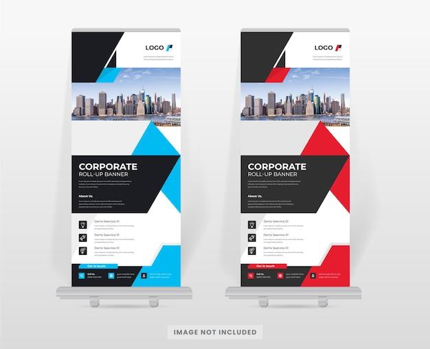 Corporate roll-up banner staan ontwerpsjabloon