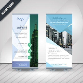 Corporate roll-up vector banner