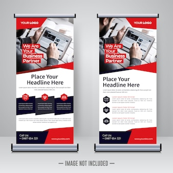 Corporate rollup of banner ontwerpsjabloon