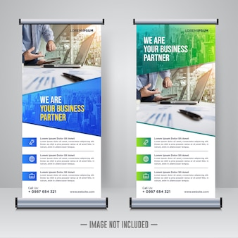 Corporate rollup of x banner ontwerpsjabloon