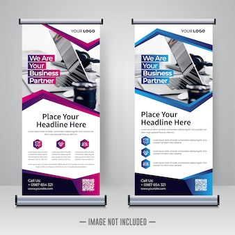 Corporate rollup ontwerpsjabloon