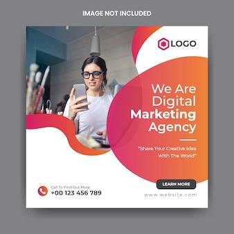 Corporate social media post & webbanner sjabloon