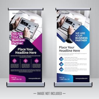 Corporate updatepakket of x banner ontwerpsjabloon