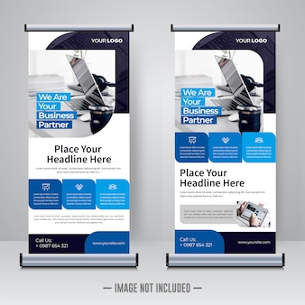 Corporate updatepakket of x banner ontwerpsjabloon