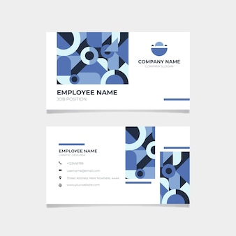 Corporatief klassiek blauw visitekaartje