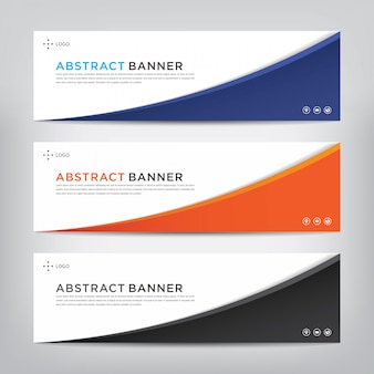 Corporatieve abstracte banner sjabloon set