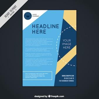 Corporatieve brochure met abstracte vormen