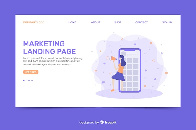 Corporatieve landingspagina-websjabloon voor marketingbureaus
