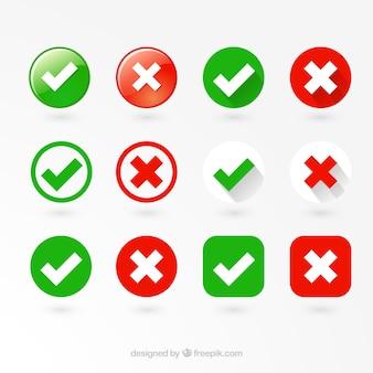 Correcte en verkeerde labels