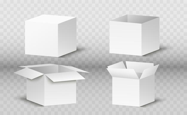 Corton doos op een transparante achtergrond. een geschenk of pakket.