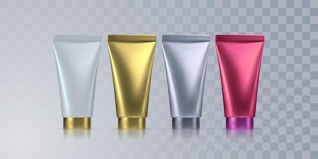 Cosmetica crème buizen geïsoleerd op transparante achtergrond