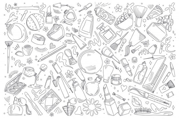 Cosmetica doodle set