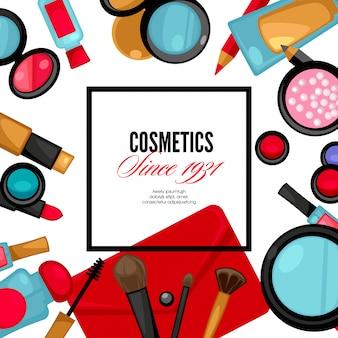 Cosmetica en mode achtergrond