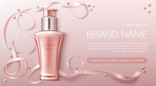 Cosmetica fles banner
