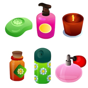 Cosmetica glazen object-objectenset