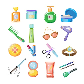 Cosmetica icons set