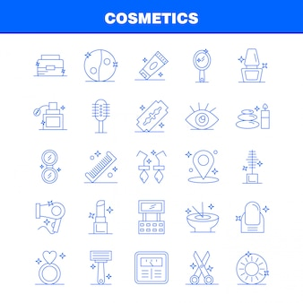 Cosmetica lijn pictogrammen