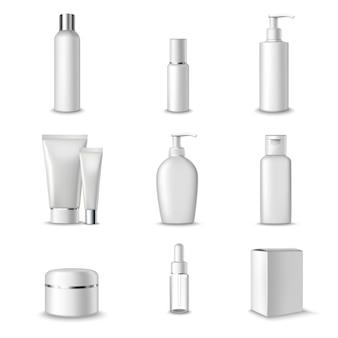 Cosmetica pakketten ingesteld