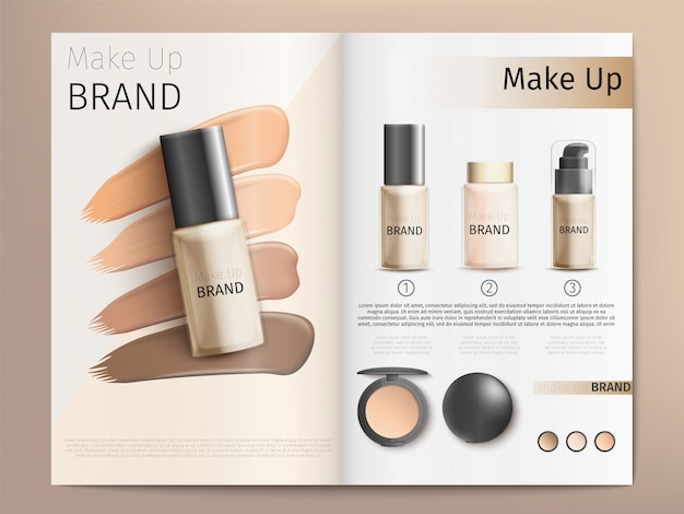 Cosmetica producten catalogus of brochure sjabloon
