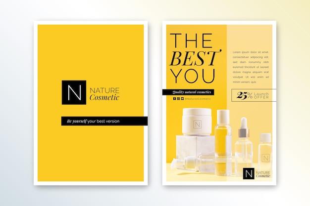 Cosmetica winkel folder sjabloon