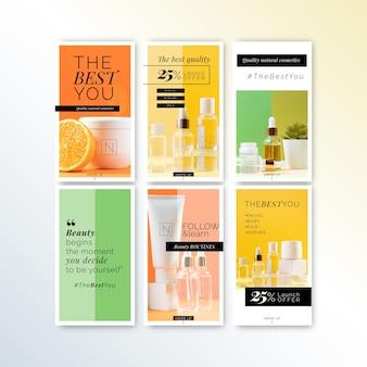 Cosmetica winkel instagram verhalen sjabloon