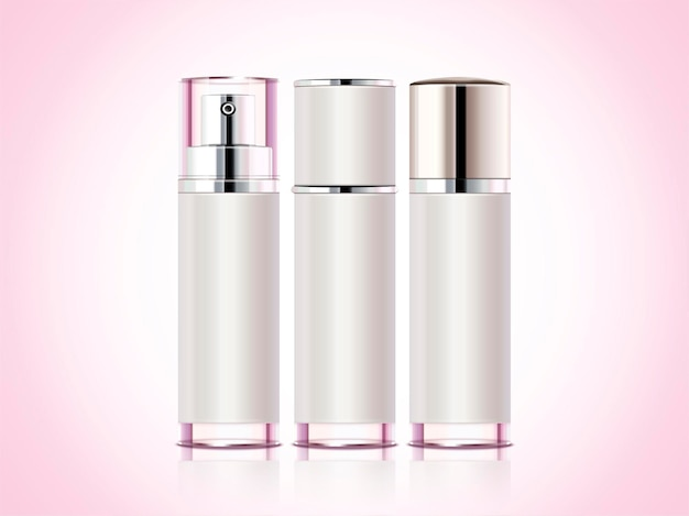 Cosmetisch containerproduct, drie spuitflessen