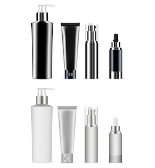 Cosmetisch flessenpakket. productpakket.
