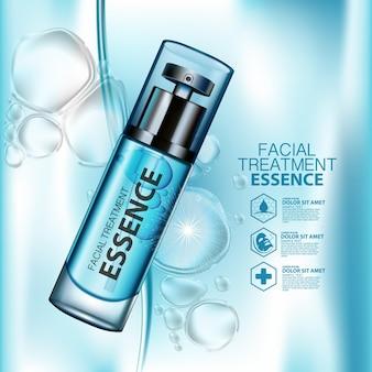 Cosmetisch vochtinbrengend product met waterspetters