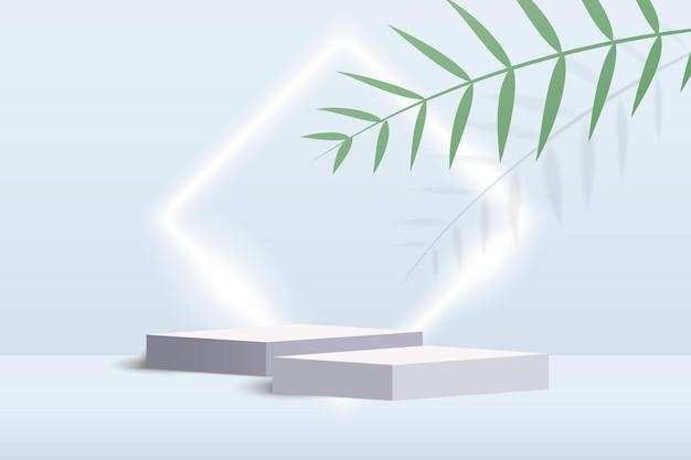 Cosmetische achtergrond podium minimale scène met geometrische vormen podium