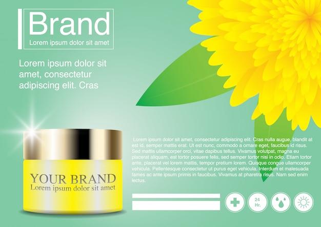 Cosmetische advertentie bloem concept