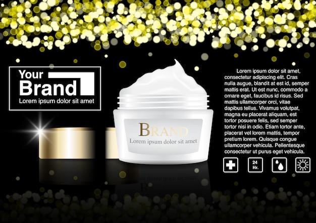 Cosmetische advertentie bokeh concept