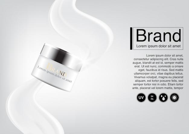 Cosmetische advertentie conceptcrème
