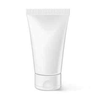 Cosmetische advertenties sjabloon schoonheid plastic lotion fles illustratie