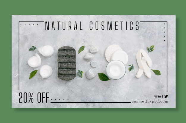 Cosmetische banner concept