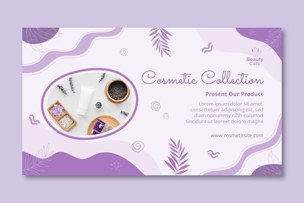 Cosmetische collectie banner ontwerpsjabloon