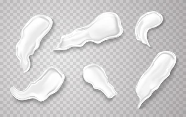 Cosmetische crème spatten in realistische afbeelding.