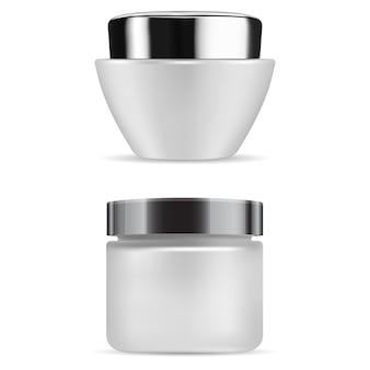 Cosmetische crèmefles matglazen container