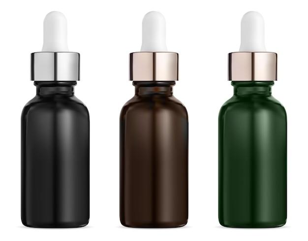 Cosmetische druppelflesje. druppel medisch serum.