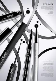 Cosmetische eyeliner met verpakking