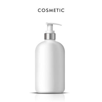 Cosmetische fles met vloeibare zeep