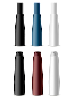 Cosmetische flessen productset. shampoo-pakket.