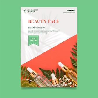 Cosmetische flyer verticale sjabloon