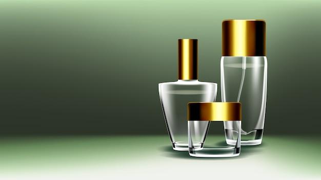 Cosmetische glazen container