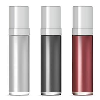 Cosmetische glazen fles