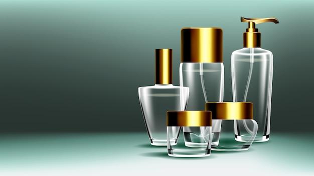 Cosmetische glazen potten